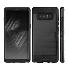 Load image into Gallery viewer, Hybrid Go Case with Credit Card Holder Slot for Samsung Galaxy Note8 SM-N950U - Black/Black - fommystore