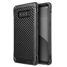 Load image into Gallery viewer, Hybrid Carbon Case with Carbon Fibre Design And Reinforced Hard Bumper - Black/ Black for Samsung Galaxy Note8 SM-N950U - fommystore
