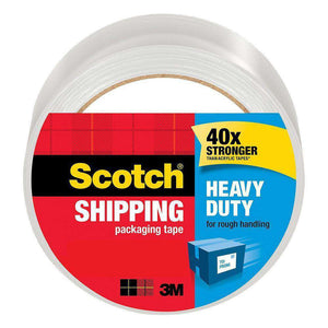 Scotch Heavy Duty Shipping Packaging Tape 1.88 in x 60.15 yd - Pack of 6 - fommystore