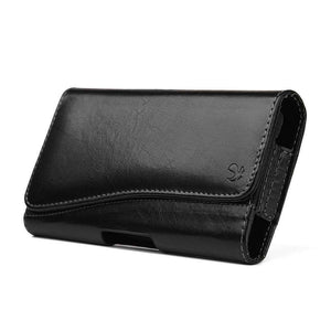 Executive Leather Horizontal Pouch with Belt Clip - Black for iPhone 11 Pro - fommystore
