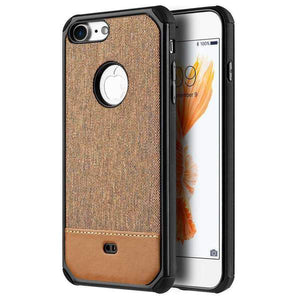 Canvas Dual Tone Hard TPU Hybrid Protective Case for iPhone 7 - fommystore