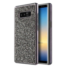 Load image into Gallery viewer, Hybrid Diamond Platinum Collection Bumper Case with Electroplated Frame - Black for Samsung Galaxy Note8 SM-N950U - fommystore