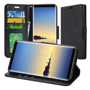 Trendy Wallet Flip Credit Card Case With Stand for Samsung Galaxy Note8 - fommystore