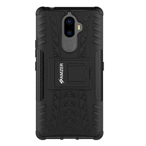 AMZER Shockproof Warrior Hybrid Case for Lenovo K8 Note - Black/Black - fommystore