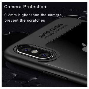 AMZER® Bare Hands Hybrid Protection Back Case - Black for iPhone X - fommystore