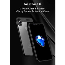 Load image into Gallery viewer, AMZER® Bare Hands Hybrid Protection Back Case - Black for iPhone X - fommystore