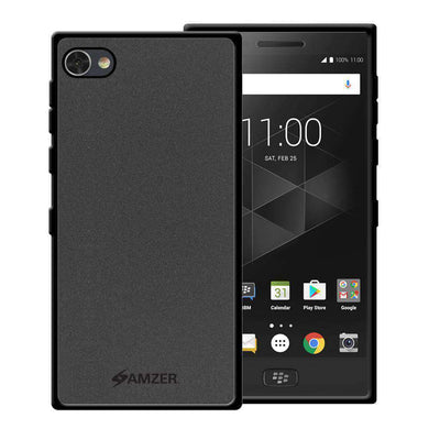 AMZER Pudding Soft TPU Skin Case for BlackBerry Motion - Black - fommystore