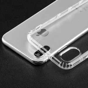 SlimGrip Bumper Hybrid Hard Shockproof Case for iPhone X - Clear - fommystore
