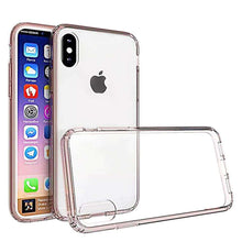 Load image into Gallery viewer, Shockproof Fusion Candy TPU Case with Clear Acrylic Back for iPhone X/ iPhone Xs