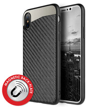 Load image into Gallery viewer, Carbon Metallic Fusion Candy TPU Case with Car Mount System for iPhone X/ iPhone Xs