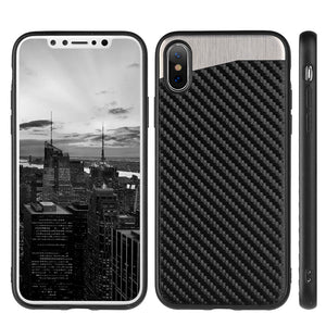 Carbon Metallic Fusion Candy TPU Case with Car Mount System for iPhone X/ iPhone Xs
