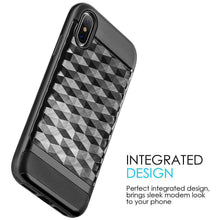 Load image into Gallery viewer, Hybrid Diamond Wave TPU Case with Frame - Black/ Black for iPhone X/ iPhone Xs - fommystore
