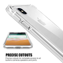 Load image into Gallery viewer, Hybrid TPU Case with Bumper- Clear/ Clear for iPhone X/ iPhone Xs - fommystore