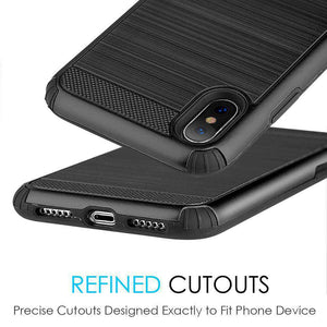 Hybrid Anti Shock Armor Case - Black/ Black for iPhone X/ iPhone Xs - fommystore