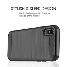 Load image into Gallery viewer, Hybrid Anti Shock Armor Case - Black/ Black for iPhone X/ iPhone Xs - fommystore