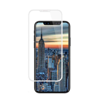 Premium Full Coverage Tempered Glass 3D Curved Screen Protector for iPhone X/ iPhone Xs - White - fommystore