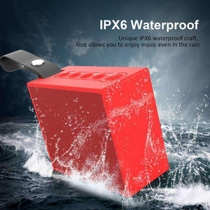 Portable IPX6 Waterproof Wireless Bluetooth 4.2 Speaker W/ 5W Driver Stereo Paring, Hands-Free Speak - fommystore