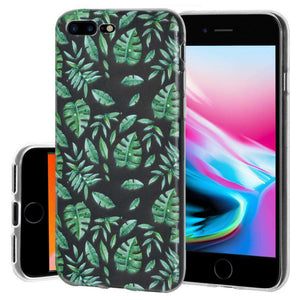 Soft Gel TPU Soft Skin Case Woodland Fern for iPhone 8 Plus - Clear