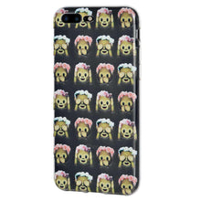 Load image into Gallery viewer, Protective Cover Soft Shockproof TPU Case See Speak Hear No Evil Monkeys for iPhone 8 Plus - Clear - fommystore