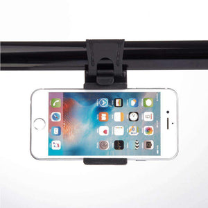 Universal Smartphone Car Mount Holster On Steering Wheel - Black