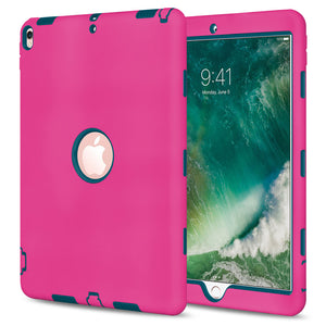 Rugged Shockproof Armor Dual Layer Hybrid Case for Apple iPad Air 10.5 2019/ Apple iPad Pro 10.5 - fommystore