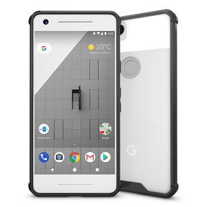 Shockproof Fusion Candy TPU Case with Clear Acrylic Back - Black for Google Pixel 2