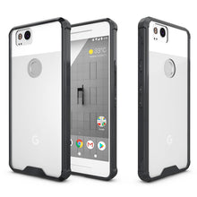Load image into Gallery viewer, Shockproof Fusion Candy TPU Case with Clear Acrylic Back - Black for Google Pixel 2