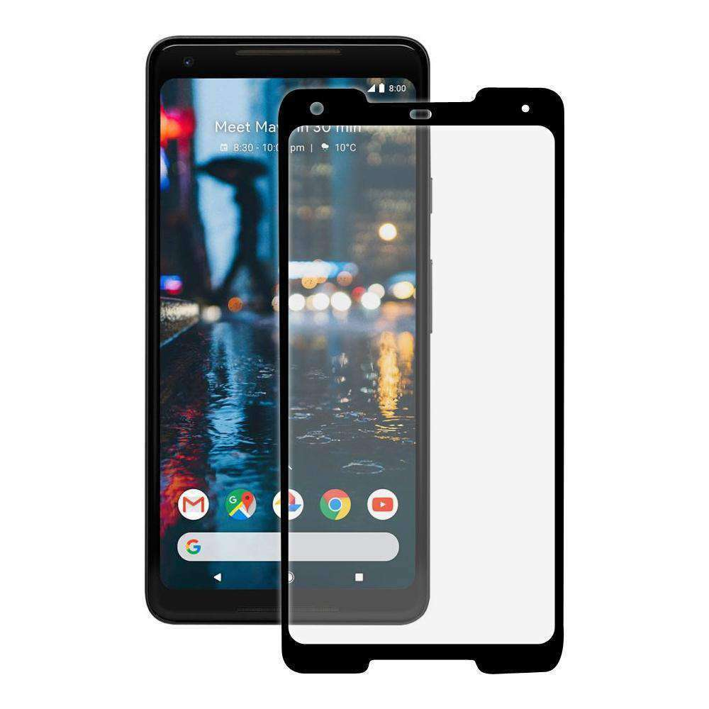 AMZER Edge2Edge Tempered Glass Screen Protector for Google Pixel 2 XL - Black - fommystore
