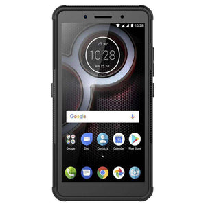 AMZER Shockproof Warrior Hybrid Case for Lenovo K8 Plus - Black/Black - fommystore