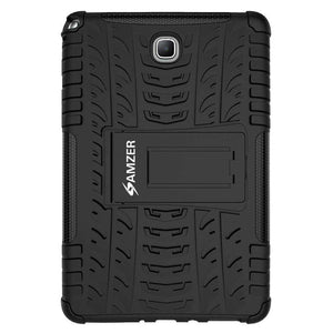 AMZER Shockproof Warrior Hybrid Case for Samsung Galaxy Tab A 8.0 - Black/Black - fommystore