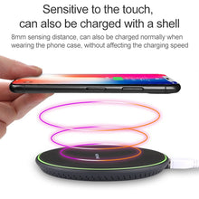 Load image into Gallery viewer, Fast Qi Wireless Charging Pad With Anti Slip Rubber - fommystore