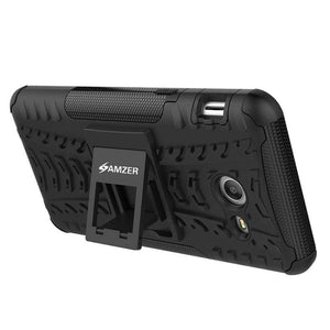 AMZER Shockproof Warrior Hybrid Case for Samsung Galaxy J5 2017 - Black/Black - fommystore