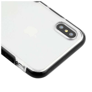 AMZER Hybrid Soft Flexible TPU Case - Clear/Black for iPhone X/ iPhone Xs - fommystore