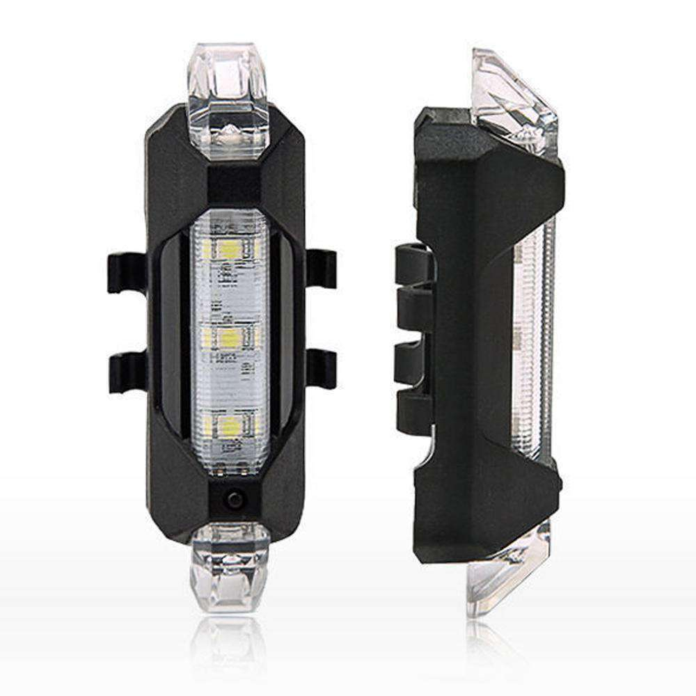 Waterproof 5 LED Lamp Bike Bicycle Rear Tail Light Back Lamp / Rear Safety Flashlight - Clear - fommystore