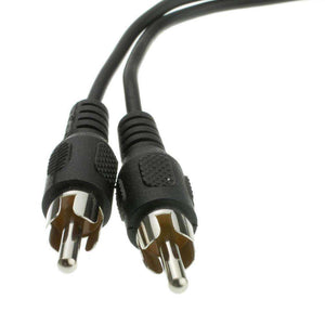 RCA Female to Dual Male Splitter/Adapter - Black - fommystore