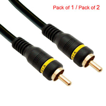 Load image into Gallery viewer, Male to Male Composite Video RCA Cable With Gold Plated Connectors - Black - fommystore