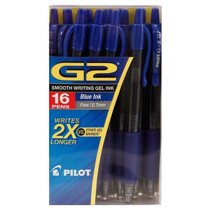 Pilot G2 Retractable Roller Ball Pen - Blue Pack of 16 for Acer Aspire One - fommystore