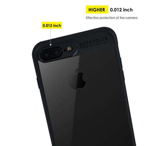 AMZER® Bare Hands Hybrid Protection Back Case - Black for iPhone 7 Plus - fommystore