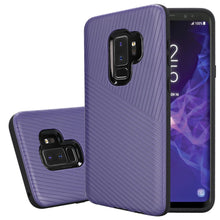 Load image into Gallery viewer, Textured Embossed Lines Hybrid TPU Case for Samsung Galaxy S9 Plus - Purple - fommystore
