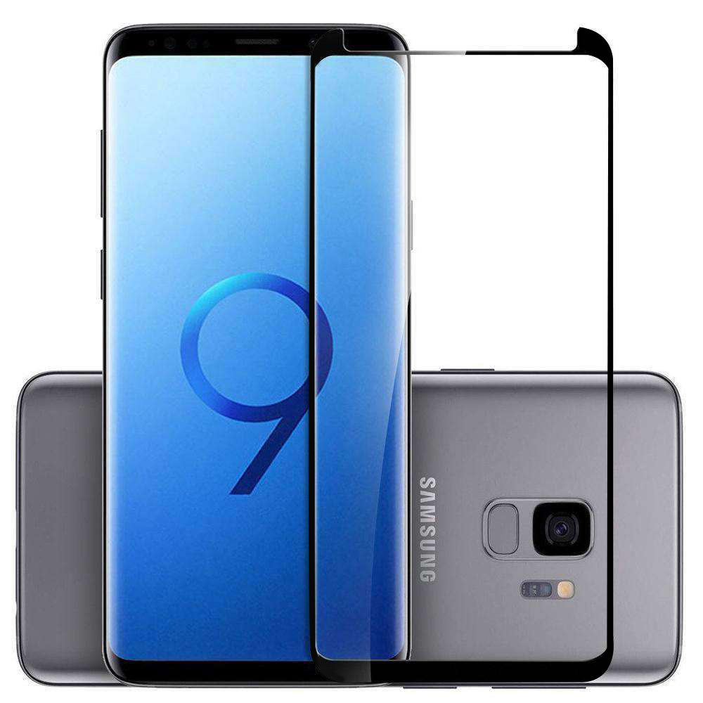 AMZER Kristal 9H Edge2Edge Tempered Glass for Samsung Galaxy S9 - Black - fommystore