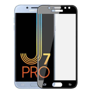 AMZER Kristal Tempered Glass HD Screen Protector for Galaxy J7 Pro - Black - fommystore