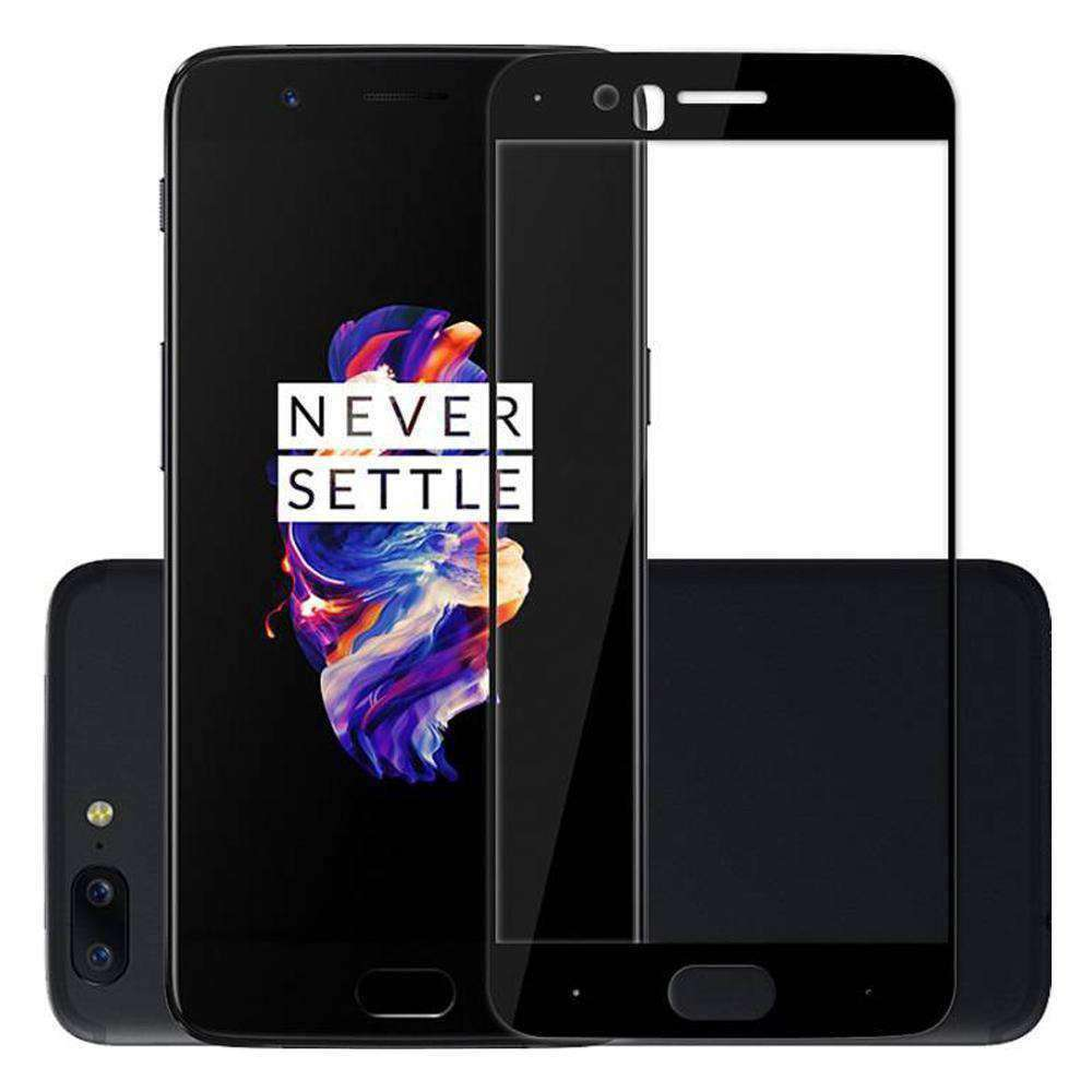 AMZER Kristal Tempered Glass HD Screen Protector for OnePlus 5 - Black - fommystore