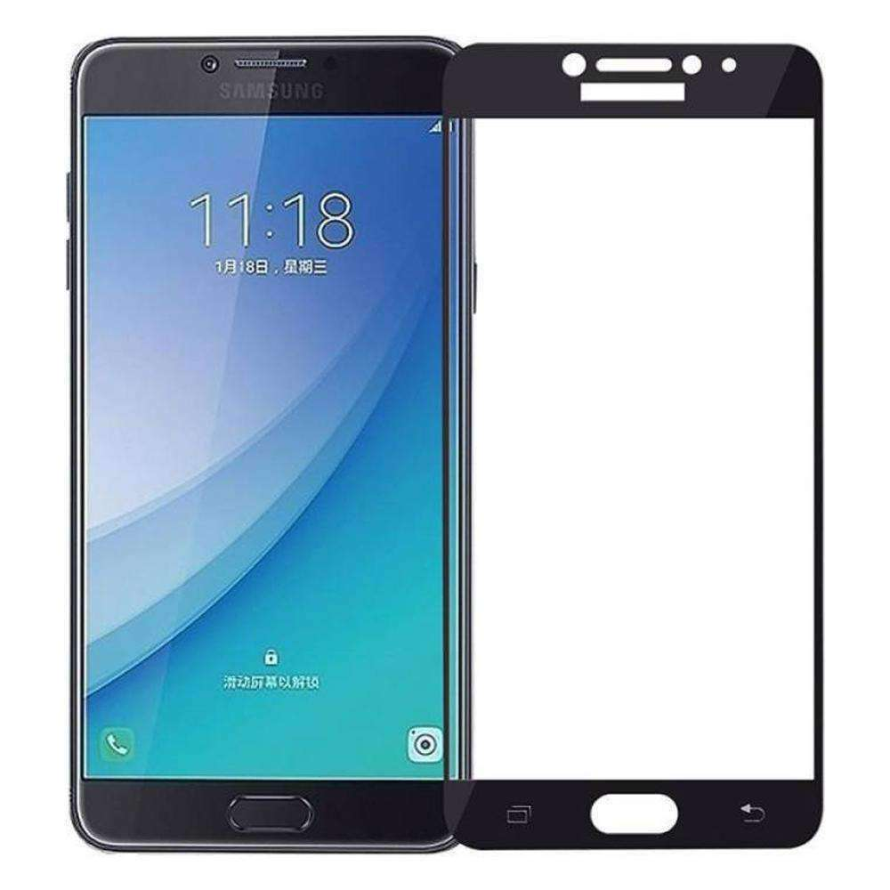 AMZER Kristal Tempered Glass HD Screen Protector for Galaxy C7 Pro - Black - fommystore