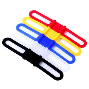 5 PCS Bike Bicycle High Strength Straps Holder For Cellphone, Lights, Computer (Random Color) - fommystore