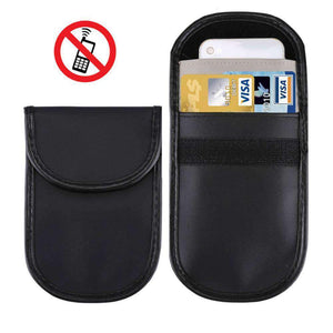 Amzer Frequency Blocking Bag With Card Holder - Black