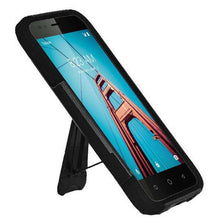 Load image into Gallery viewer, AMZER Dual Layer Hybrid KickStand Case for Coolpad Defiant - Black/Black - fommystore