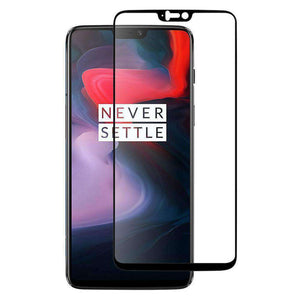 AMZER Kristal 9H Tempered Glass Edge2Edge Protector for OnePlus 6 - Black - fommystore