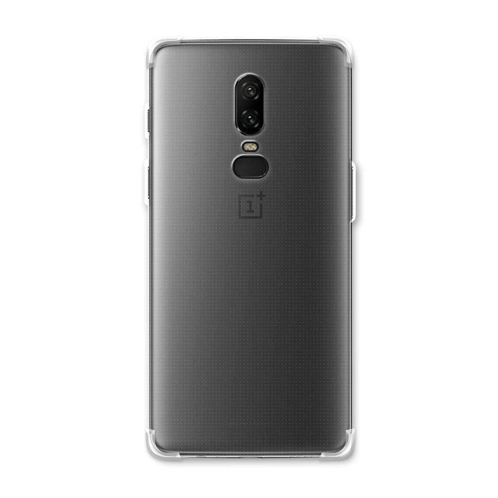 AMZER Pudding TPU Soft Skin X Protection Case for OnePlus 6 - Crystal Clear - fommystore