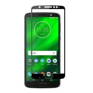 AMZER Kristal 9H Tempered Glass Edge2Edge Protector for Moto G6 Plus - Black - fommystore