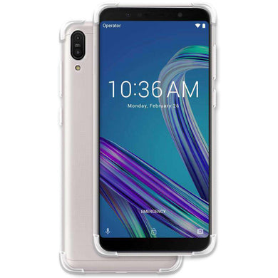 AMZER Pudding TPU Skin X Protection Case for Asus Zenfone Max Pro M1 - Clear - fommystore